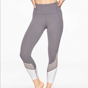 ATHLETA Colorblock High Rise 7/8 Leggings Grey S